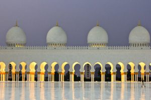 visita alla Sheikh Zayed Grand Mosque Abu Dhabi Sara Caulfield